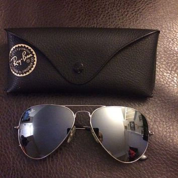 Onetow Ray Ban Womens Aviator Sunglasses Silver