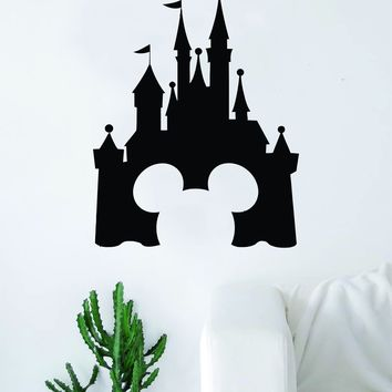 Disney Castle Mickey Mouse Decal Sticker Wall Vinyl Decor Art Movie Baby Teen Disney Girl Princess Cute Disneyland