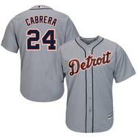Miguel Cabrera Detroit Tigers Majestic Official Cool Base Authentic Collection Player Jersey – Gray