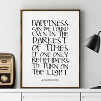 Harry Potter Print Albus Dumbledore Quote Harry Potter Poster Wall Decor for Boys Girls Room Nursery Decor Printable Nursery Harry Potter