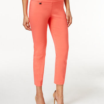Alfani Tummy-Control Pull-On Capri Pants, Only at Macy's - Pants - Women - Macy's
