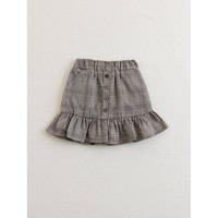 Kids Button Ruffle Trim Skirt