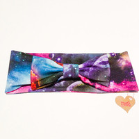 Retro Vintage 60's inspired Bow Headband pop beautiful galaxy universe star kitsch party :) Happy Dancing xoxo Love Factory NYC