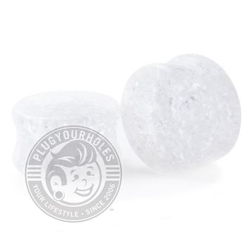 Clear Shattered Glass Plugs