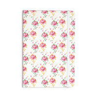"Laura Escalante ""Cross Stitch Flowers"" White Pink Everything Notebook"
