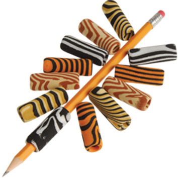 Animal Print Pencil Grips Case Pack 16