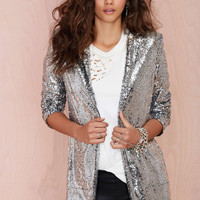 Sequin Long Sleeve Coat