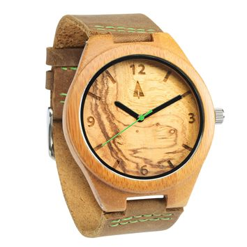 Wooden Watch // Olive Ash Green