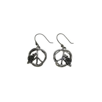 Imagine Peace Sterling Silver Drop Earring