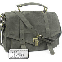 NEW Women's FAUX SUEDE LEATHER Satchel Handbag Cross-body Messenger School Bag