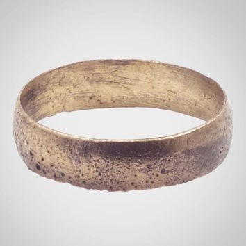 Authentic Ancient Viking Wedding Band Jewelry C.866-1067A.D. Size 9 1/4  (19.4mm) (Brr512)