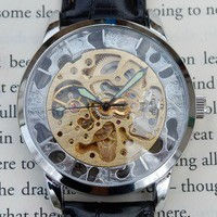 Silver and Gold Wind-Up Wrist Watch