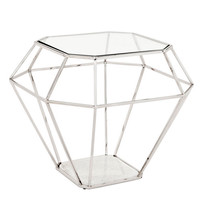 Clear Glass Side Table | Eichholtz Asscher
