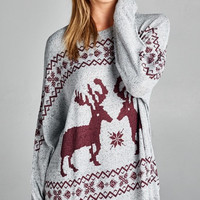 Reindeer Sweater Top
