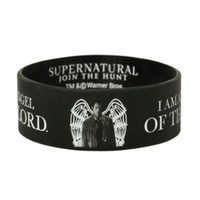 Supernatural Castiel Angel Of The Lord Rubber Bracelet