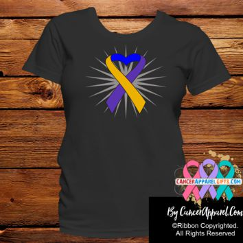 Bladder Cancer Awareness Heart Ribbon Shirts