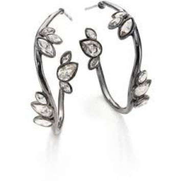 Alexis Bittar 'Miss Havisham' Liquid Crystal Jagged Hoop Earrings