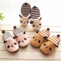 HOT Korean Cutie Panda Winter Warm Soft Adorable Girls Gift Women Home Slippers