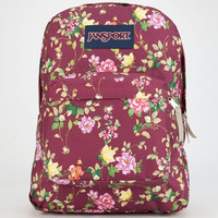 Jansport Burgundy Floral Superbreak Backpack Burgundy One Size For Women 25742632001