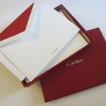 Cartier Box Of Red Note Cards And Envelopes