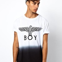 BOY London | Boy London Eagle Dip Dye T-Shirt at ASOS