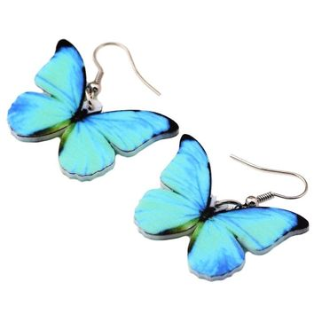 Realistic Acrylic Butterfly Earrings - 17 Varieties