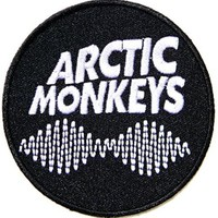 AM arctic monkeys Music Band Logo Patch Sew Iron on Embroidered Appliques Badge Sign Costume Gift by PRINYA SHOP