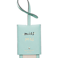 wedding belles luggage tag