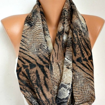 Snake -  Infinity Scarf Shawl Circle Scarf Loop Scarf  Gift -fatwoman