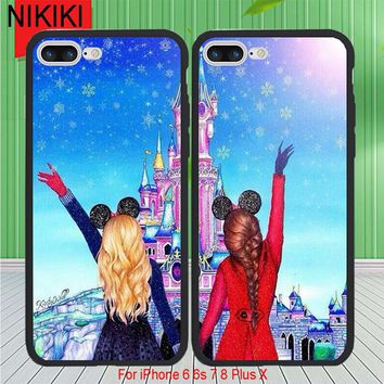ciciber Best Friends BFF Phone Cases For iPhone 8 7 Plus 6 6s X e46cbffebcd99