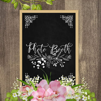Photo Booth sign, Printable chalkboard signs, Wedding chalkboard signs, Chalkboard art, Rustic chalkboard signs, Rustic wedding decorations