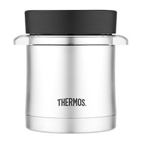 Thermos Vacuum Insulated Food Jar w/Microwavable Container 12 oz. Stainless TS32