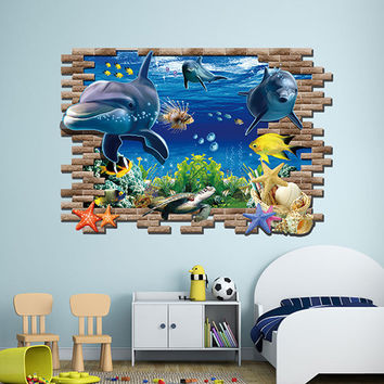 Underwater World 3D Wall Decal