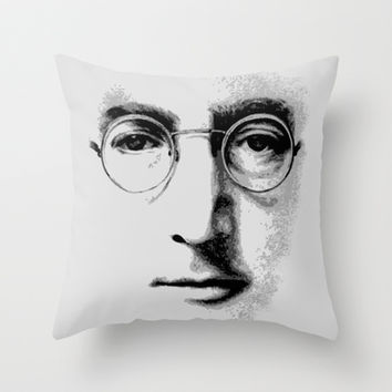 Harry potter Or John Lennon face Decorative cushion Throw Pillow case by Three Second