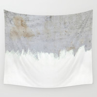 Painting on Raw Concrete Wall Tapestry by Cafelab
