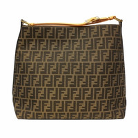 Fendi Canvas Hobo 8Br653 Tobacco Orange