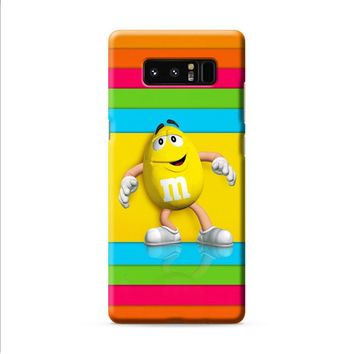 M&M's Yellow Candy Rainbow Samsung Galaxy Note 8 case