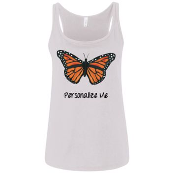 Monarch Butterfly Personalized Ladies' Relaxed Jersey Tank