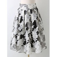 Midday Tea- Floral Skirt -XL ONLY