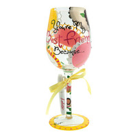 You're My BFF Personalize It Wine Glass | Hand Painted Wine Glass|Designs by Lolita | Official Lolita Store