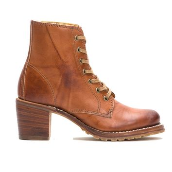 Frye Boot Sabrina 6G - Saddle Leather Short Lace-Up Boot