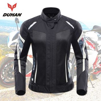 DUHAN Motorcycle Jacket Women Moto Jacket Suit Breathable Pants Motorcycle Clothing Summer Motorbiker And Racing Clothes