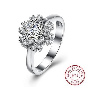 Women 925 Sterling Silver Snow Ring