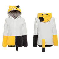 S-XL 2 Colours Neko Atsume Fleece Hoodie Sweaster CP153952