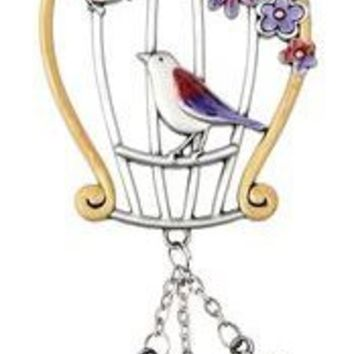 Birdcage Car Accessory Rearview Mirror Car Charm