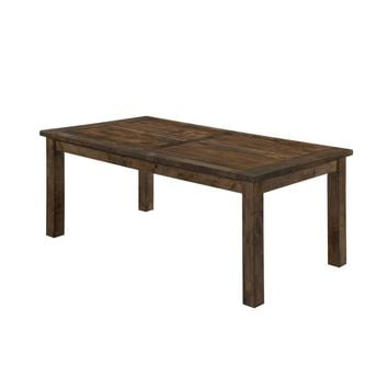Wooden Rectangular Dining Table, Natural Wood Brown-Coaster
