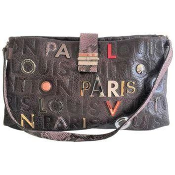 VLX9RV Louis Vuitton Lutece Shoulder Bag in Monograme Collage, Limited edition LV Purse