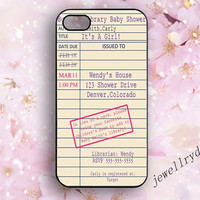 Library card iPhone Case,Library Due Date Card iphone 4/4s,Vintage Retro Book Lover Reader iphone 5/5s/5c case,retro galaxy s5 s4 s3 case