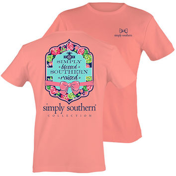 Simply Southern Preppy Simply Blessed Southern Raised T-Shirt