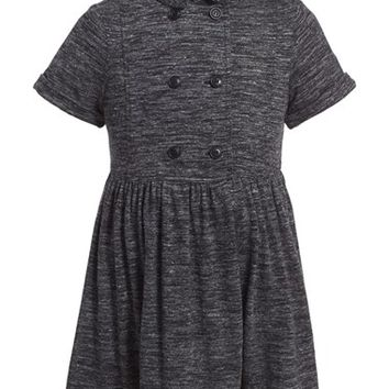 Girl's Burberry 'Elvie' Heathered Trench Dress,